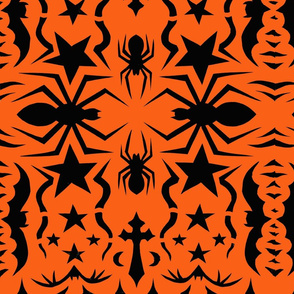 Spider snowflake orange