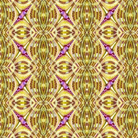 Beaded Fractal Waves - Gold fabric by chinaberries_studio on Spoonflower - custom fabric