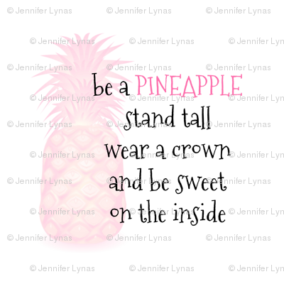 be a pineapple pink lovey