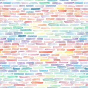 Abstract Rainbow Gradient Half-brick Watercolor