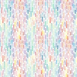 Vertical Rainbow Gradiant Watercolor Brush stroke stripes