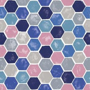 Watercolor Hexagon Honeycomb