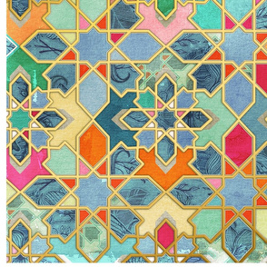 Rotated Gilt & Glory - Colorful Moroccan Mosaic