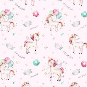 Watercolor unicorn world_9