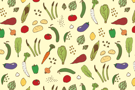 veggies fabric by eleang on Spoonflower - custom fabric