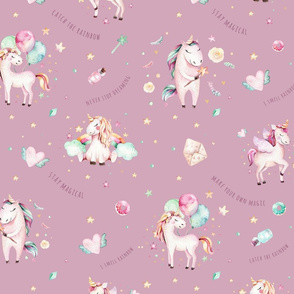 Watercolor unicorn world_16