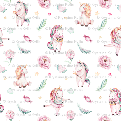 Watercolor unicorn world_18