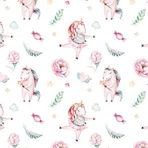 Watercolor unicorn world_17