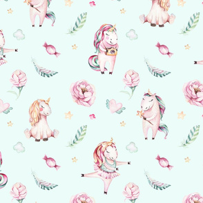 Watercolor unicorn world_20