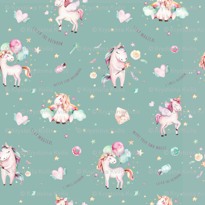 Watercolor unicorn world_21
