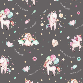 Watercolor unicorn world_23