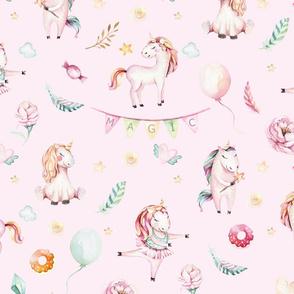 Watercolor unicorn world_25