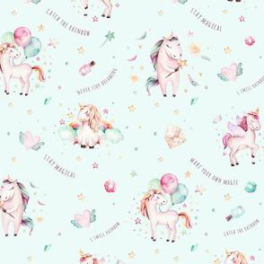 Watercolor unicorn world_28