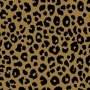 Gold Black - Leopard