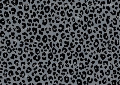 Gray Blue Leopard