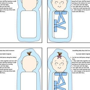 Baby Boy Swaddling Cut and Sew Doll Ornament Fabric Collection