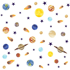 Watercolor Planets Mix