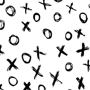 XOXO // Black and White // Large