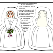 Victorian Wedding Cut and Sew Doll Ornament Fabric Collection
