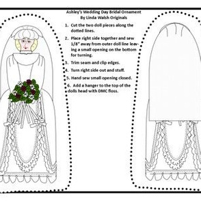 Ashley's Wedding Day Cut and Sew Doll Ornament Fabric Collection