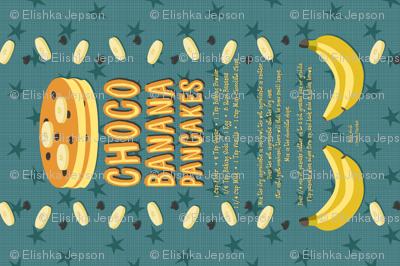 Choco Banana Pancakes Recipe Tea Towel