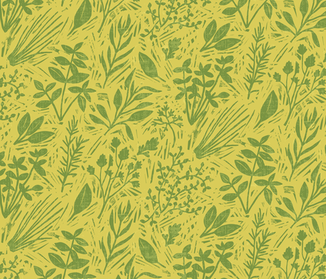Mustard Green Wallpaper