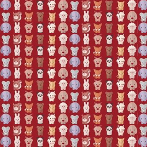 Cartoon Animals - 7.5 in (red)