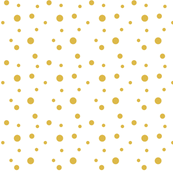 Mustard Dots and Spots on White