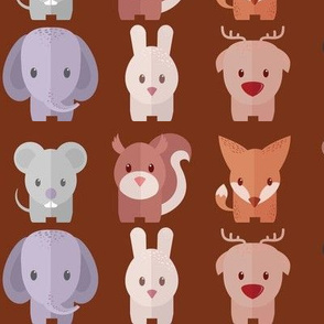 Cartoon Animals - 30 in (brown)