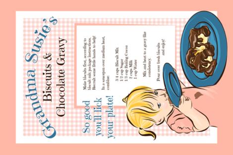 Grandma Susie's Chocolate Gravy fabric by sunnytime on Spoonflower - custom fabric