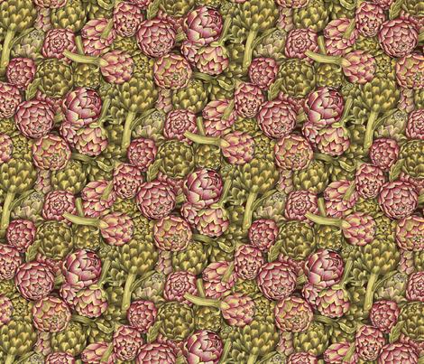 Artichokes fabric by stitchyrichie on Spoonflower - custom fabric