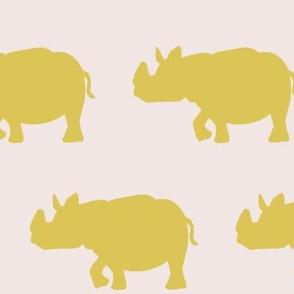 rhino - mustard/blush