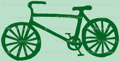 Bicycle in Green & mint
