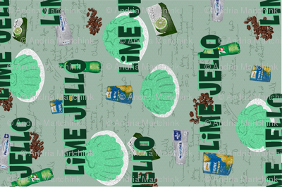 Lime Jello Family Recipe Tea Towel