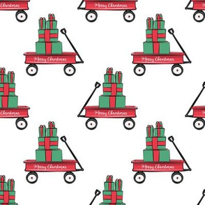 red wagon with gifts