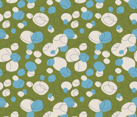 Cockles and Shells RETRO OCEAN fabric by kathyjuriss on Spoonflower - custom fabric
