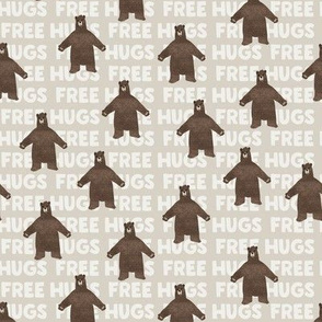 (small scale) free hugs bear  - beige (smaller bears)