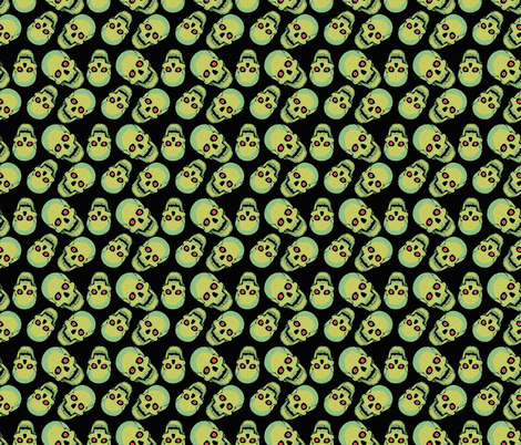 Vintage Skulls fabric by inkysunshine on Spoonflower - custom fabric