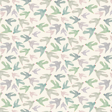 Pastel Parrots mini fabric by frumafar on Spoonflower - custom fabric