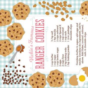 Ranger Cookies Recipe Tea Towel