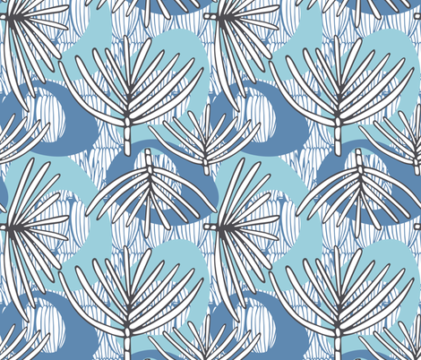 Fronds POWDER fabric by kathyjuriss on Spoonflower - custom fabric