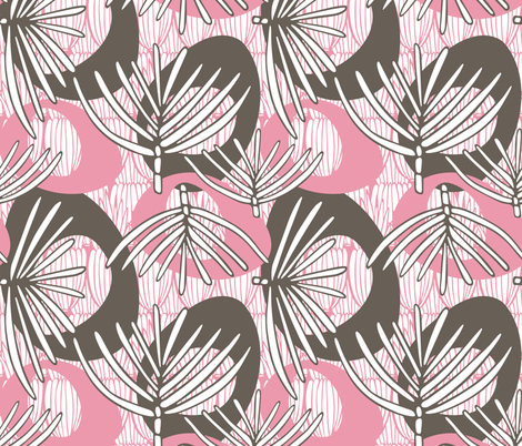 Fronds RETRO MUSTARD fabric by kathyjuriss on Spoonflower - custom fabric