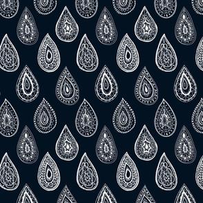 Raindrops  Deep Blue