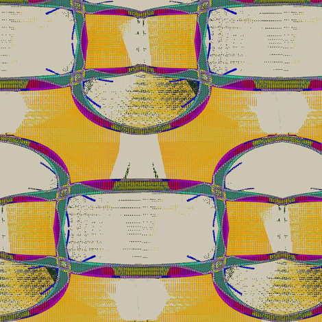 Caribbean Roundup (Yellow Day) fabric by david_kent_collections on Spoonflower - custom fabric