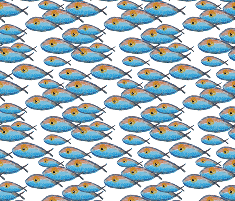 Arctic Salmon fabric by the_hoarder's_art_room on Spoonflower - custom fabric