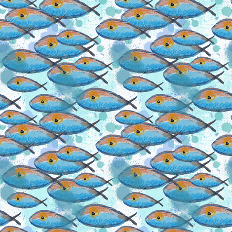 Wet Fish fabric by the_hoarder's_art_room on Spoonflower - custom fabric