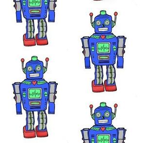 smaller size blue retro robot
