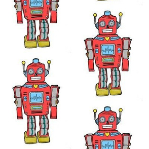 retro robots in smaller size