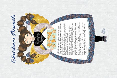 christmas biscuits fabric by gaiamarfurt on Spoonflower - custom fabric