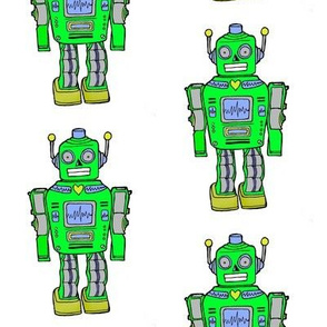 Retro green robot in smaller size